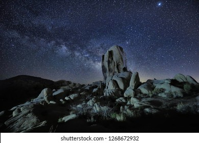 Stunning Milky Way Core in the Desert of Joshua Tree National Park