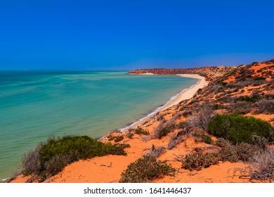 Stunning mixed colors on Cape Peron in Francois Peron National Park, Shark Bay, Western Australia, Australia