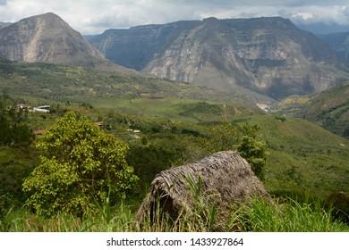 Stunning mountain landscape in the surroundings of Gocta in Amazonas-PERU