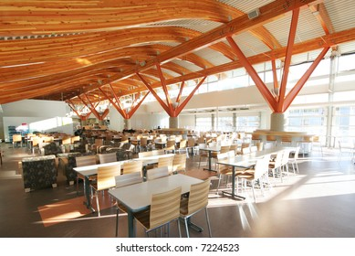 A stunning new cafeteria in a university in Squamish, BC, Canada.