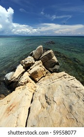 Stunning Ocean View With Lime stones In Borneo Malaysia!