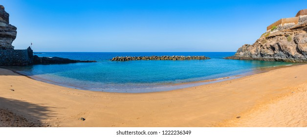 Stunning panorama of abama beach.Tenerife. Canary Islands.