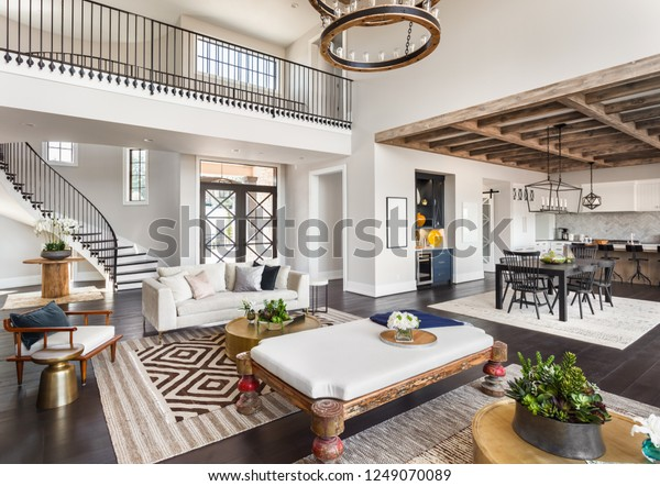 Stunning Panorama Luxury Home Interior Open Buildings Landmarks