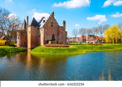 Stunning Radboud Castle in Medemblik city, Netherlands