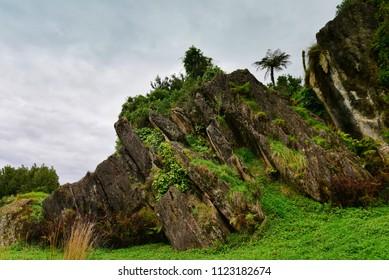 Stunning rock formations at Mangaotaki Valley
