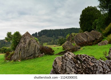 "Stunning rock formations at Mangaotaki Valley, the filming location of ""The Hobbit, an Unexpected Journey"", in New Zealand"