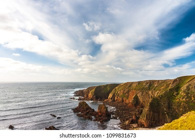 Stunning rugged coastline and Atlantic Ocean at Bloody Foreland, Donegal, Ireland
