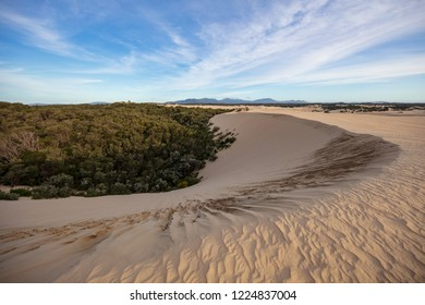Stunning sand dunes and sky at the Big Drift in Wilsons Promontory national park, Victoria, Australia