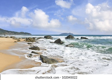 Stunning sceneries and untouched beaches at Sanya, Hainan Island, China
