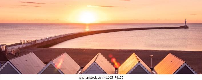 Stunning seascape. Roker seafront, Sunderland