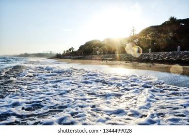 A stunning shoreline in sunny Marbella, Spain