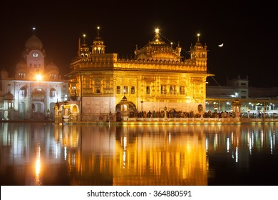 The stunning Sikh Golden Temple in Amritsar, Punjab region in India