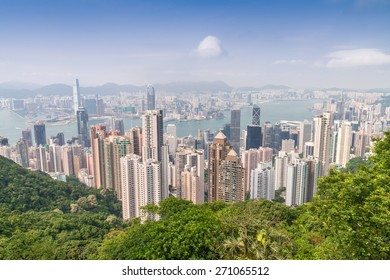 Stunning skyline of Hong Kong.