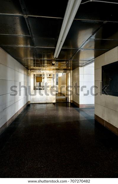 Stunning Stainless Steel Lobby Art Moderne Stock Photo Edit