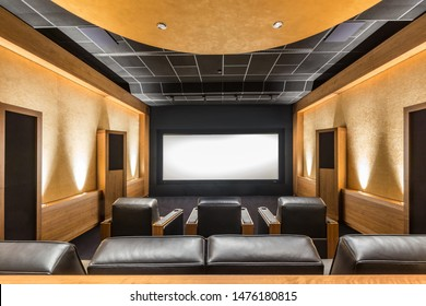 Stunning stylish privat theater. Luxury Home Cinema Room. Private Screening Room