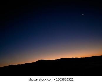 Stunning Sunrise behind the Mountain