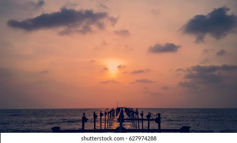 Stunning Sunset at alappuzha beach..