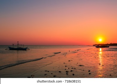 Stunning sunset over Bantayan Island, Cebu, Philippines