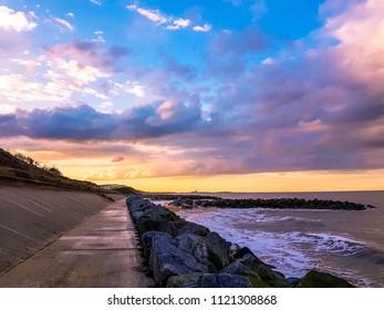 A stunning sunset over Hopton on sea