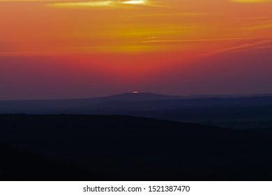 Stunning sunset in southeast Oklahoma