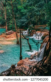 Stunning Tad Sae Waterfall outside Luang Prabang. Hidden Gem in Laos. Not popular and less crowded. More known by local people. Amazing nature and very calm. Must visit.