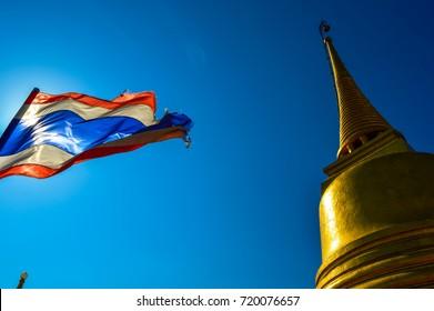 The stunning temple of Wat Saket, The Golden Mount, Bangkok, Thailand