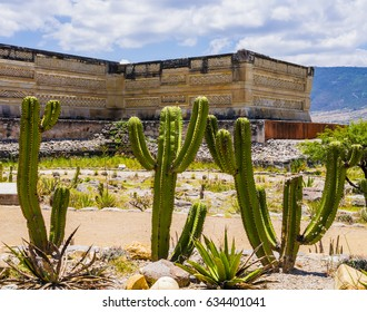 Stunning view of the archaeological site of Mitla, Oaxaca, Mexico