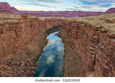 Stunning view of Colorado river flowing through canyon in Arizona