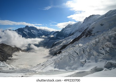 Stunning view of Eiger, Moench and Jungfrau, in Switzerland