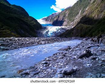 Stunning view of Franz Josef Glacier, South Island, New Zealand