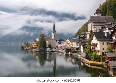 Stunning view of Hallstatt, Austria.