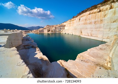 Stunning view of a marble lake in Macedonia