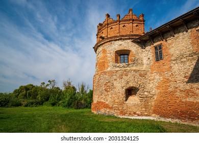 Stunning view of medieval Starokostiantyniv Castle, Khmelnytskyi region, Ukraine. Popular tourist attraction - Shutterstock ID 2031324125