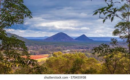 A stunning view from  mid way up Mt Ngungun in the Sunshine coasts Hinterland. Queensland,Australia