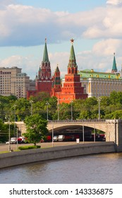 Stunning view of Moscow Kremlin in the summer, Russia