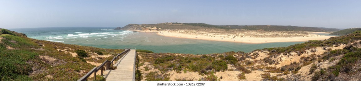 Stunning view of Odeceixe beach, Southwest Alentejo, Portugal