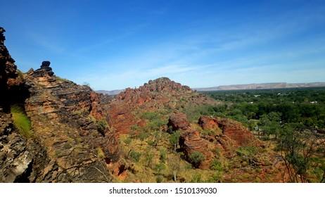 Stunning view on the beautiful red rocks of the Mirima National Park in Kununurra, Kimberley - Western Australia