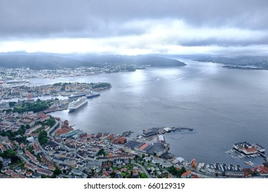 A stunning view over Bergen in Norway