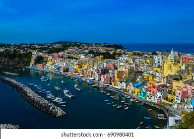 Stunning view over Procida, Naples, Italy