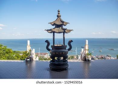 Stunning view from puu jih shih temple sandakan