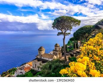 Stunning view from Ravello village, Amalfi coast, Campania, Italy