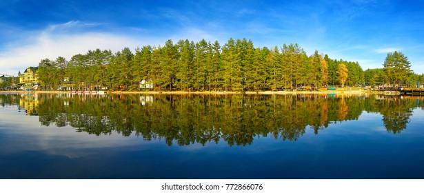 Stunning view of Zlatibor lake. Zlatibor , Serbia.
