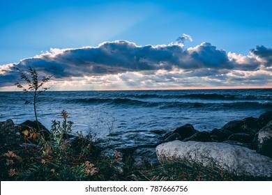 Stunning views of Lake Erie: Port Stanley Ontario Canada:
