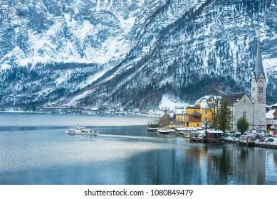 Stunningly beautiful Austrian mountain village of Hallstatt. Austria