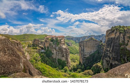 Stunningly located on top of a rock The Monastery of Varlaam, Meteora, Greece