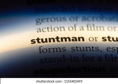 stuntman word in a dictionary. stuntman concept.