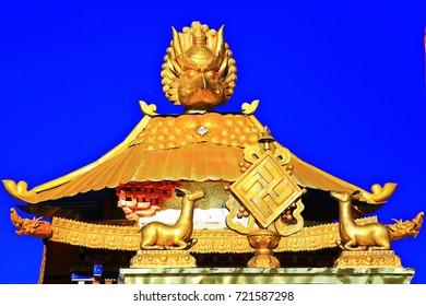 stupa in the ancient Tibetan monastery
