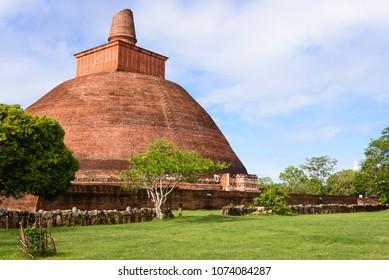 Stupa in Anuradhapura, Sri Lanka. The Jethawanaramaya or Jetavanaramaya is a stupa in the ruins of Jetavana in the sacred unesco world heritage city of Anuradhapura in Sri Lanka.