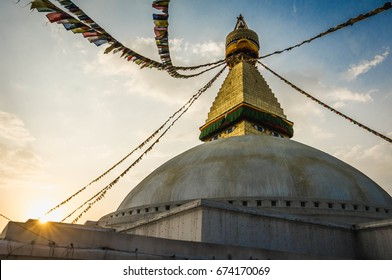 Stupa of Bodnath in Kathmandu