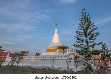 Stupa in Buddha temples in Nan , North Thailand